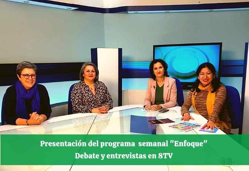 programa Enfoque en 8tv presentado por Amparo Bou